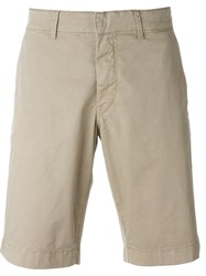 Fay Slim Fit Chino Shorts Nude And Neutrals