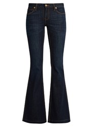 Burberry Mid Rise Flared Jeans Denim