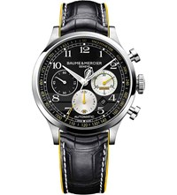 Baume And Mercier 10282 Capeland Shelby Cobra Alligator Leather Watch Sapphire