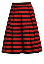 Mintandberry Pleated Skirt Rio Red Black