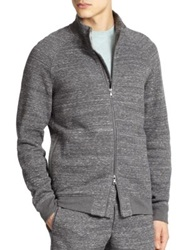 Vince Double Faced Bonded Knit Track Jacket Dark Grey