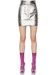 Dsquared Nappa Leather Mini Skirt