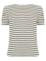 Oasis Embroidered Stripe T Shirt Multi Blue