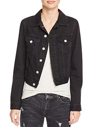 French Connection Micro Western Denim Jacket Washed Black