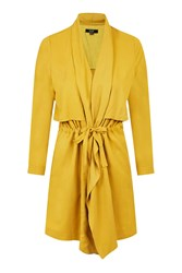 Stalker Mustard Yellow Waterfall Coat By Goldie