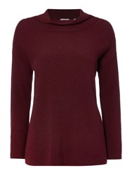 Marella Aeroso Long Sleeve Loose Neck Jumper Burgundy