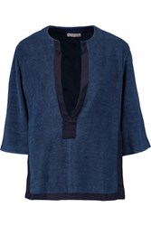 Orlebar Brown Rhea Cotton Terry Coverup Storm Blue