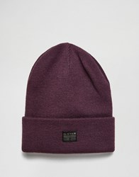 G Star Original Beanie Purple