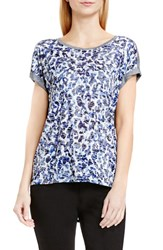 Vince Camuto Women's Two By 'Art Animal' Print Mixed Media Tee