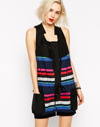 L.A.M.B. L.A.M.B Striped Romper Multi