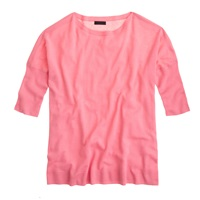 J.Crew Collection Cashmere Drapey Boatneck Sweater Hibiscus