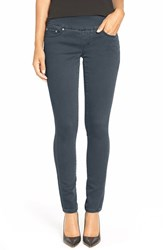 Petite Women's Jag Jeans 'Nora' Knit Denim Pull On Skinny Jeans Grey