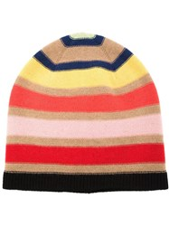 Sonia Rykiel Striped Print Beanie Nude And Neutrals