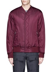 3.1 Phillip Lim Collarless Padded Blouson Jacket Red