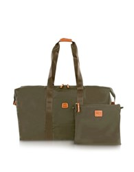 Bric's X Bag Large Foldable Last Minute Holdall In A Pouch Olive Green