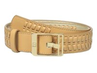Ivanka Trump 32Mm Belt With Lacing Detail Natural Women's Belts Beige