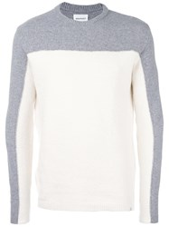 Norse Projects Colour Block Jumper White