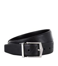 Burberry Shoes And Accessories Reversible Textured Check Belt Unisex Black