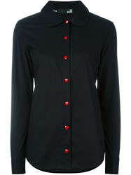 Love Moschino Heart Button Shirt Black