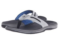 Sperry Baitfish Thong Grey Black Men's Sandals Gray