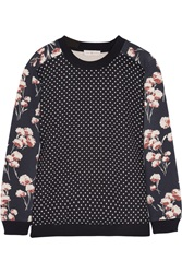 Tory Burch Ronnie Printed Cotton Jersey Sweatshirt