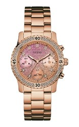 Guess W0774l3 Ladies Sports Watch Rose Gold