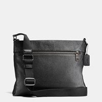 Coach Sam Crossbody In Pebble Leather Black Antique Nickel Black