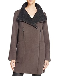Elie Tahari Laura Wool Blend Coat Deep Mocha