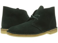 Clarks Desert Boot Dark Green Suede Men's Lace Up Boots