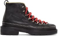 Rag And Bone Black Leather Compass Lace Up Boots
