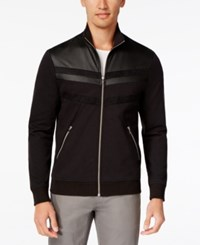 Inc International Concepts Men's Faith And Fear Full Zip Stand Collar Jacket Only At Macy's Deep Black