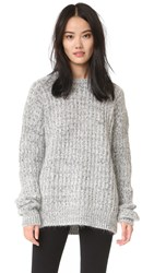 Aries Super Big Crew Sweater Ash Grey