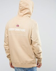 Good For Nothing Hoodie With Back Print Beige
