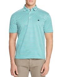 Brooks Brothers Striped Regular Fit Polo Shirt Green White