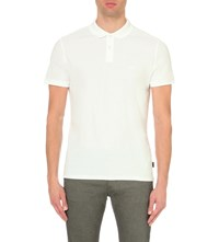 Calvin Klein Jacob Cotton Pique Polo Shirt White