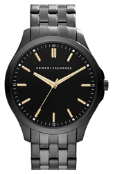 Armani Exchange Round Bracelet Watch 45Mm Black
