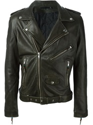 Blk Dnm Biker Jacket Green