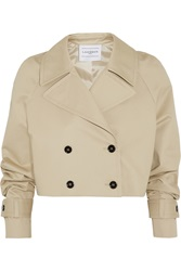 Finds Cropped Cotton Gabardine Trench Jacket Nude