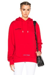 Off White Chateau Hoodie In Red Abstract Red Abstract