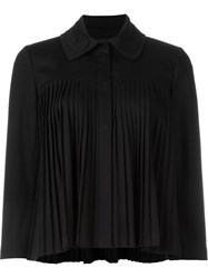 L'autre Chose Pleated Jacket Black