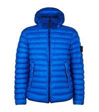 Stone Island Quilted Puffer Jacket Male Blue