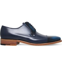 Barker Powell Leather Derby Shoes Navy