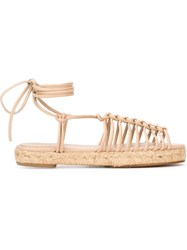 Chloe Strappy Sandals Nude And Neutrals
