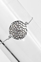 Boohoo Sterling Silver Coin Bracelet Silver