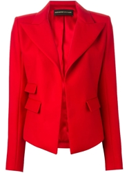 Alexandre Vauthier Open Front Fitted Jacket Red