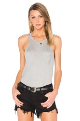 Bella Luxx Pocket Tank Gray