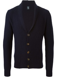 Eleventy Shawl Neck Cardigan Blue