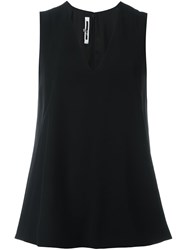 Mcq By Alexander Mcqueen Flared Sleeveless Top Black