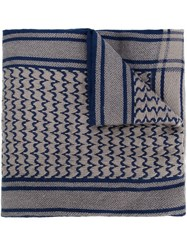 Undercover Woven Scarf Blue