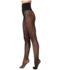 Commando Diamond Rib Net Tights Hn020 Black Hose